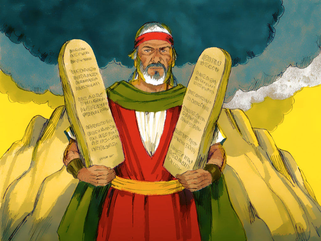 Ten commandments clipart mount sinai. Freebibleimages moses at on