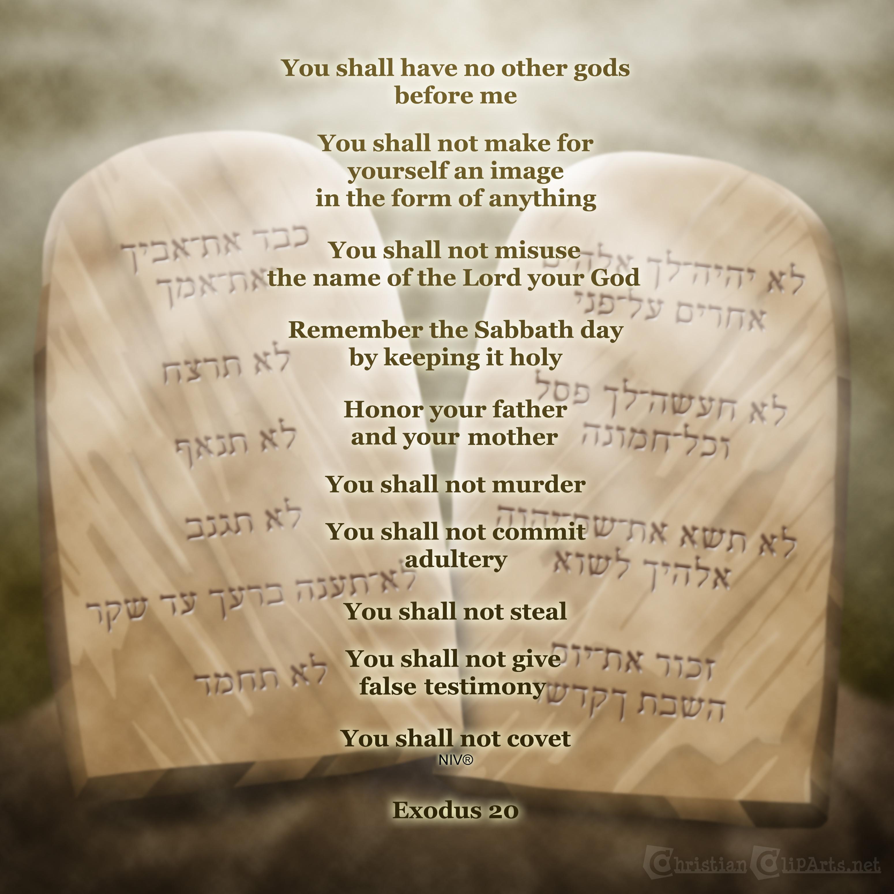 Ten commandments clipart niv. Christian cliparts net the