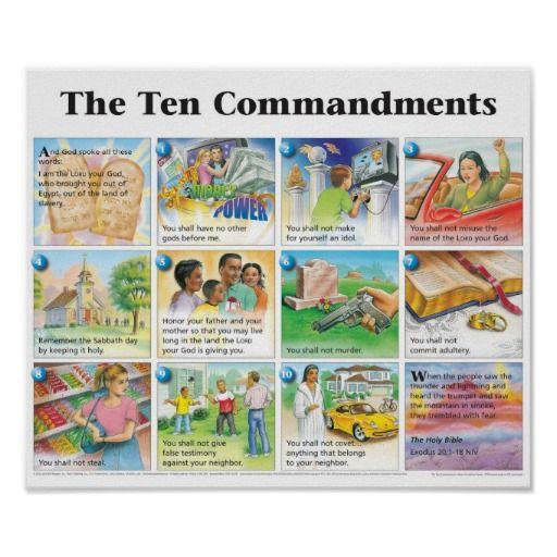 The poster zazzle com. Ten commandments clipart niv