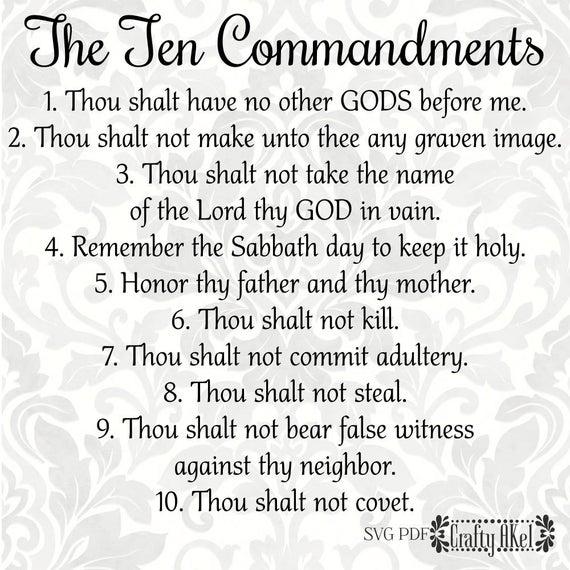 Ten commandments clipart pdf. The svg digital file