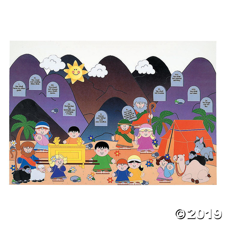 Giant sticker scenes . Ten commandments clipart positive