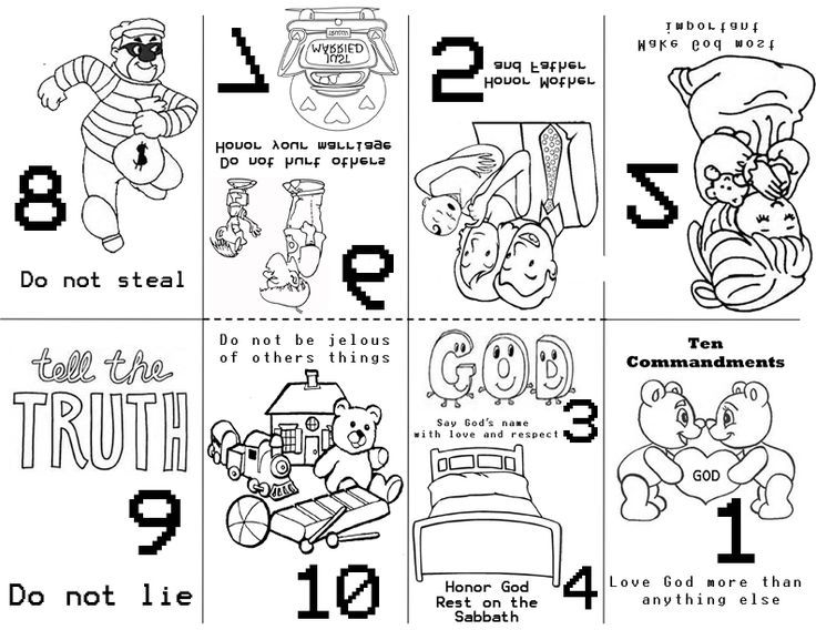 Ten commandments clipart sunday school. Preschool old testament bible
