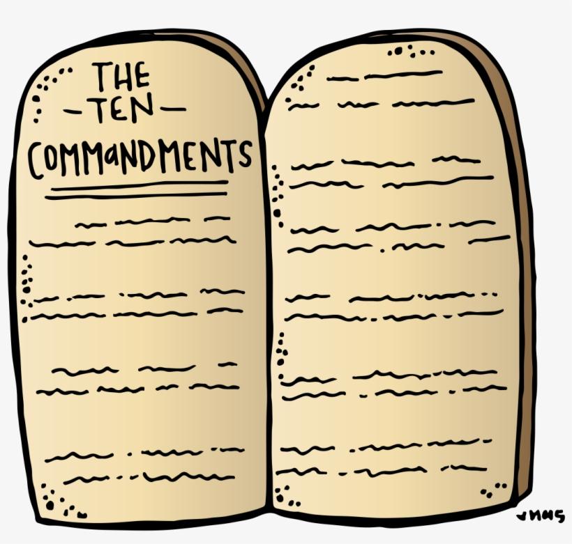 Ten commandments clipart symbol. Stone tablets