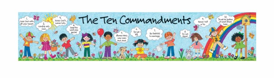 Tcr children s banner. Ten commandments clipart tem