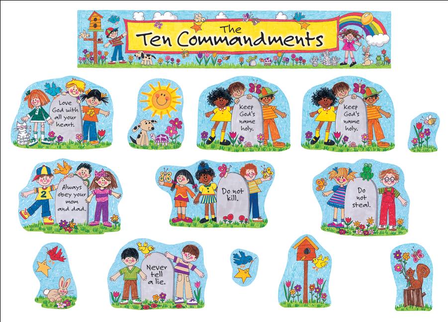 Ten commandments clipart tem. Hd tcr children s