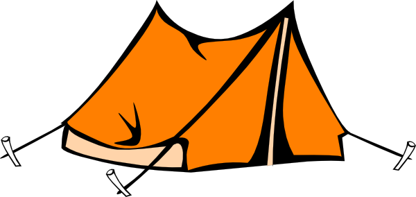 Tent clipart. Camping black and white