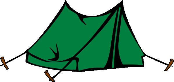 Green clip art vector. Tent clipart