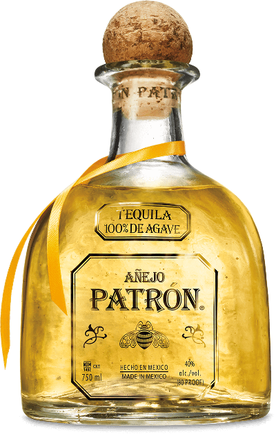 Patron anejo white horse. Tequila bottle png