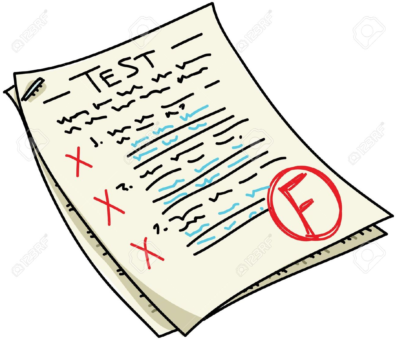 Test clipart failed test. Tests free download best