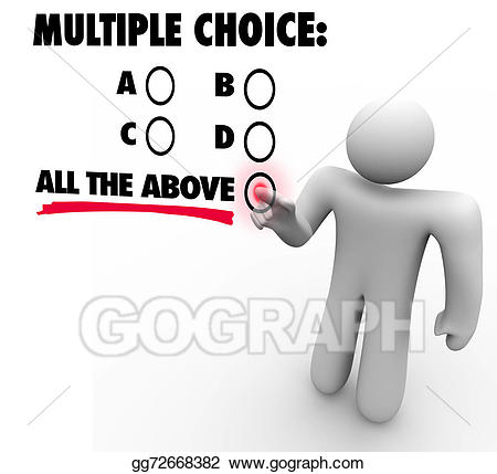 Test clipart multiple choice test. Stock illustrations all the