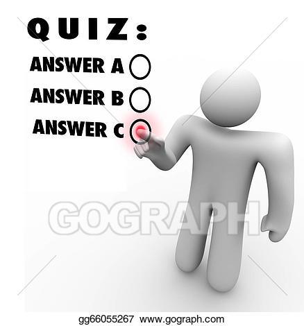 Test clipart multiple choice test. Stock illustration quiz choosing