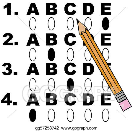 Stock illustration drawing . Test clipart multiple choice test