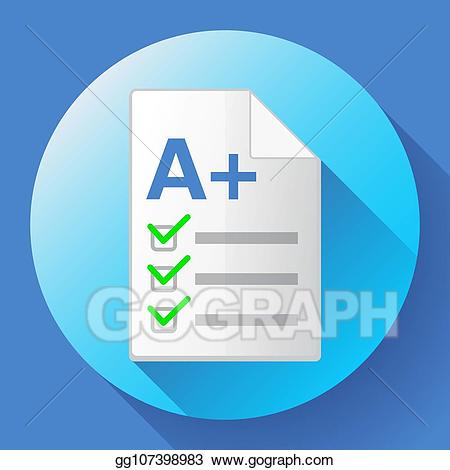 Test clipart plus. Eps vector icon of