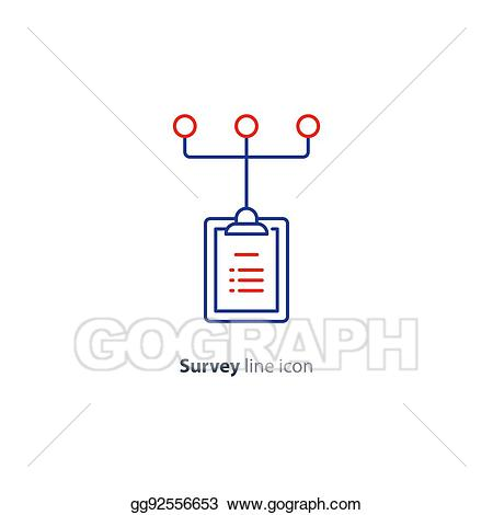 Vector illustration research network. Test clipart summary