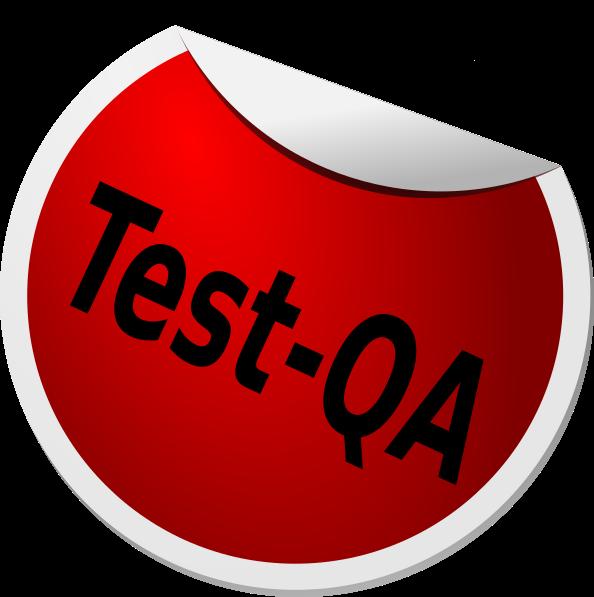 Qa clip art at. Test clipart svg