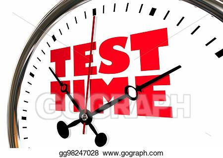 Test clipart test time. Stock illustration exam testing
