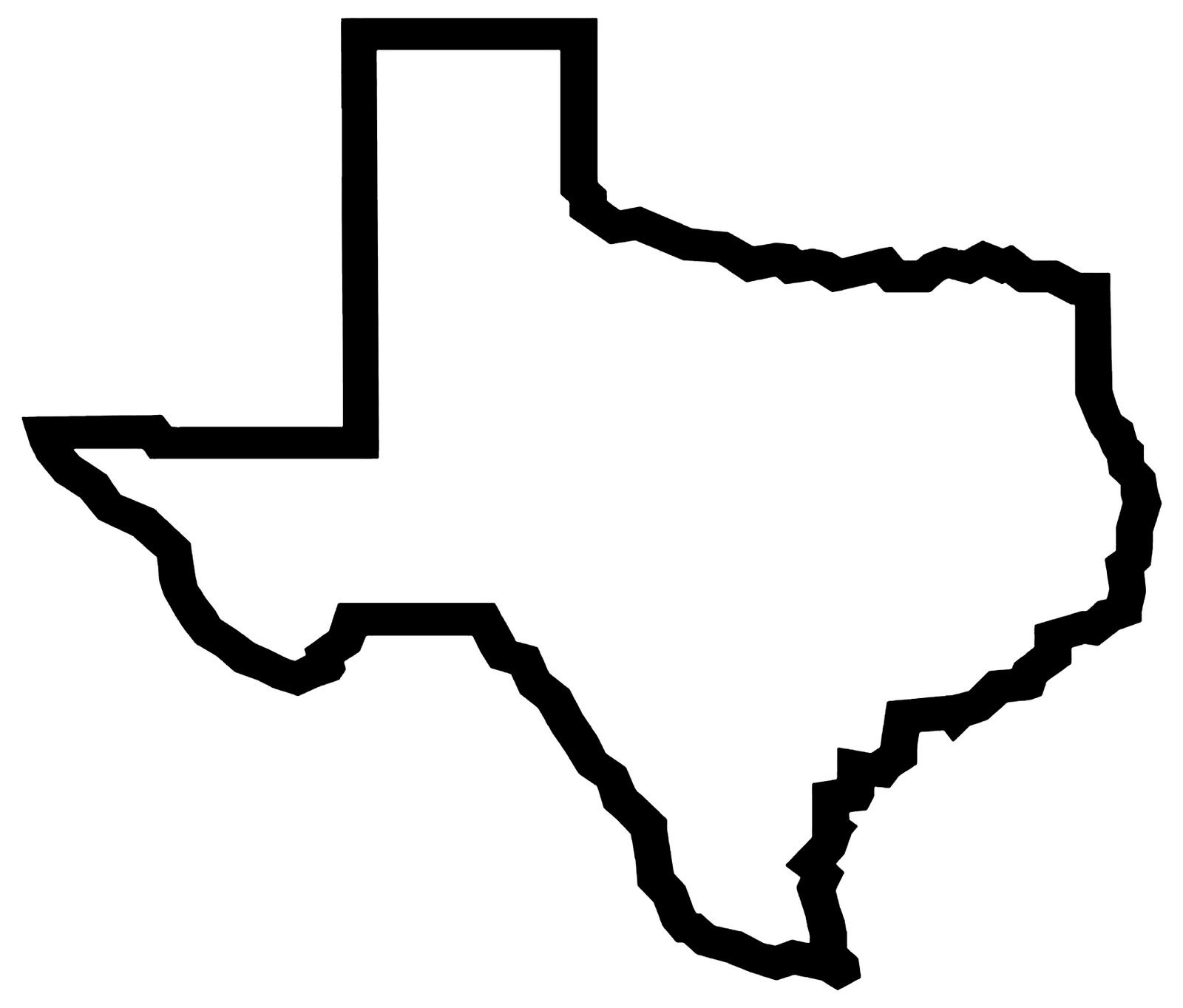 Outline free images wildcard. Texas clipart