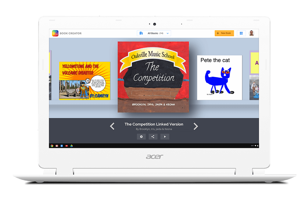 Website clipart chromebooks. Book creator is coming