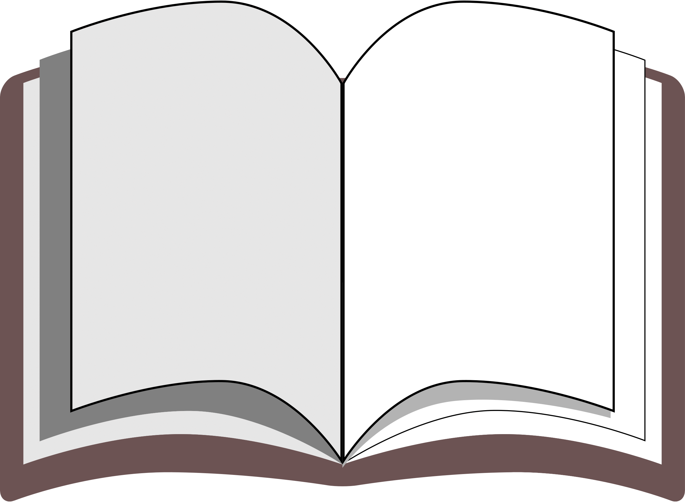 Public domain book cliparts. Textbook clipart big
