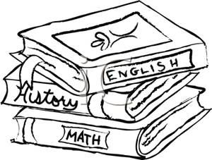 Textbook clipart black and white. Textbooks school clip art
