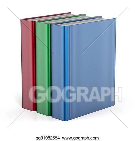 Textbook clipart boooks. Books standing three blank