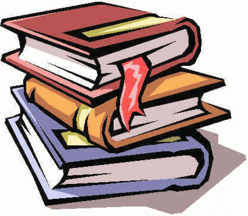 Textbook clipart boooks. Stack of books clip
