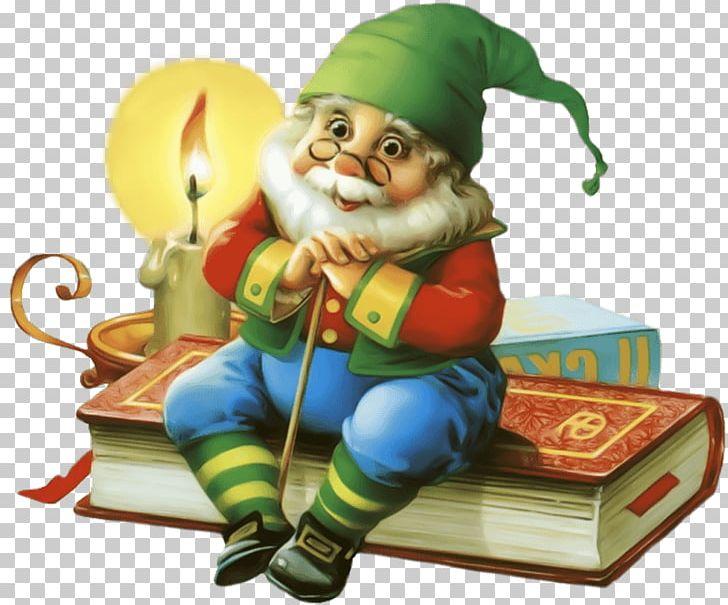 Goblin elf fairy dwarf. Textbook clipart christmas book
