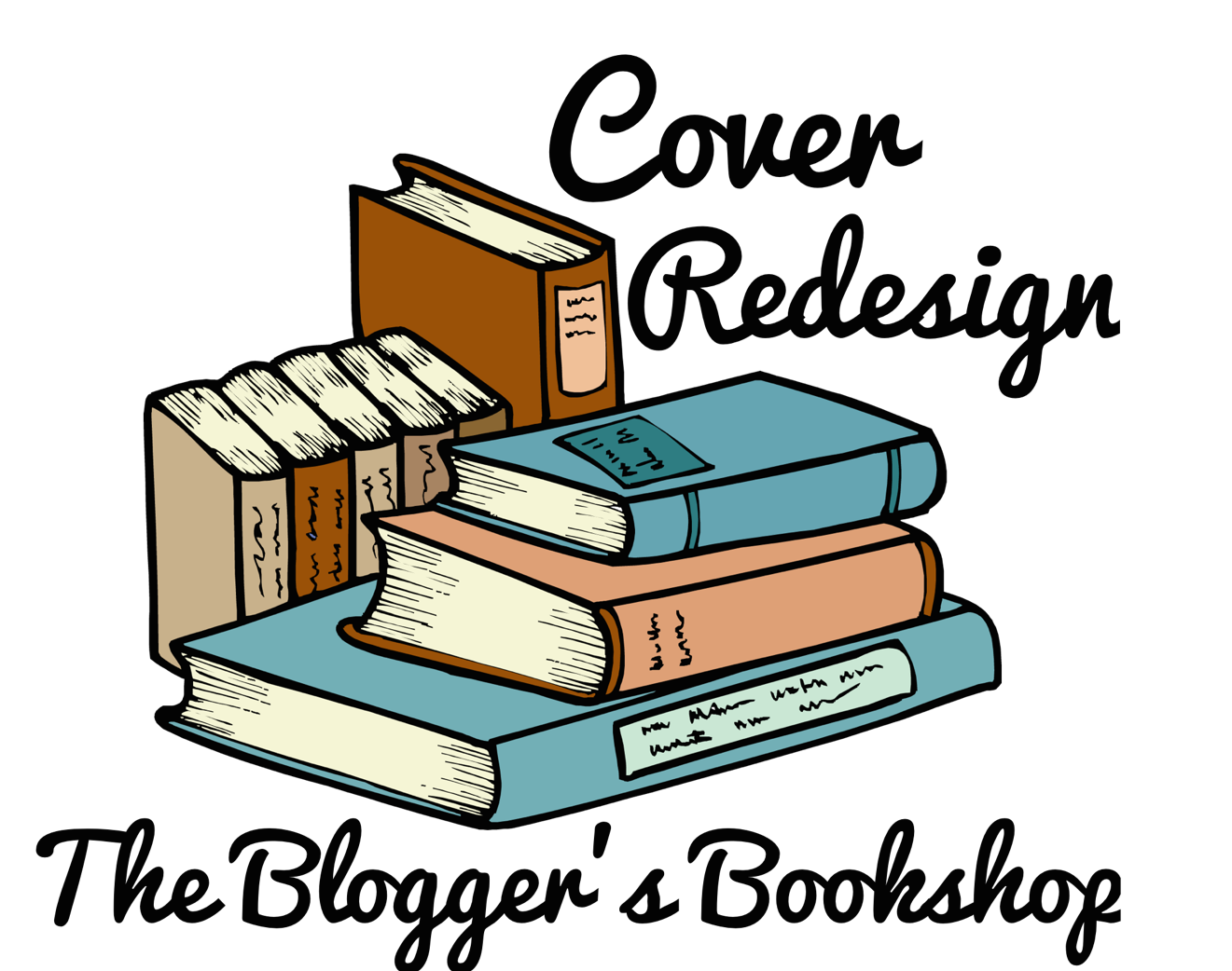 The blogger s bookshop. Textbook clipart colourful book