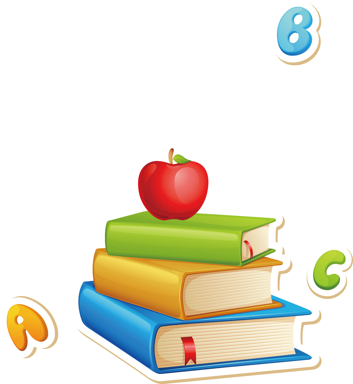Montessori education early childhood. Textbook clipart educational material