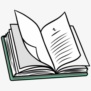 Textbook clipart exercise book. Model of open free