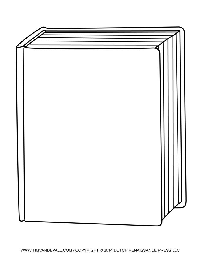 Free book template for. Textbook clipart front cover