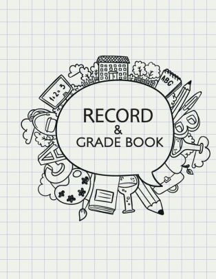 Record grade book teacher. Textbook clipart gradebook
