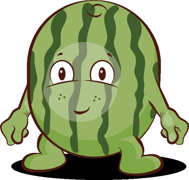 Meloen groente en fruit. Textbook clipart green