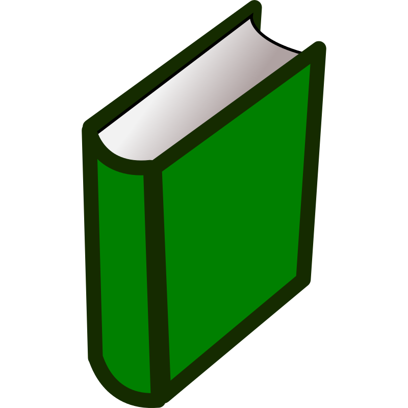 Textbook clipart green. Book free download best
