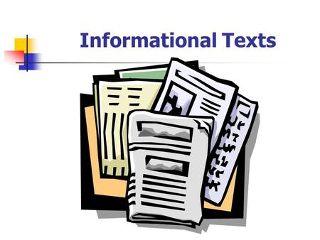Structures and features ppt. Textbook clipart informational text