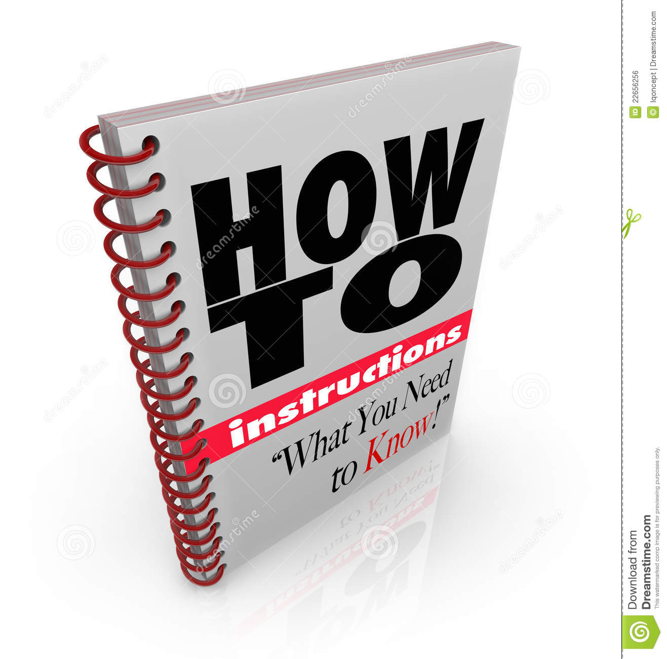 Instruction book how to. Textbook clipart instructional
