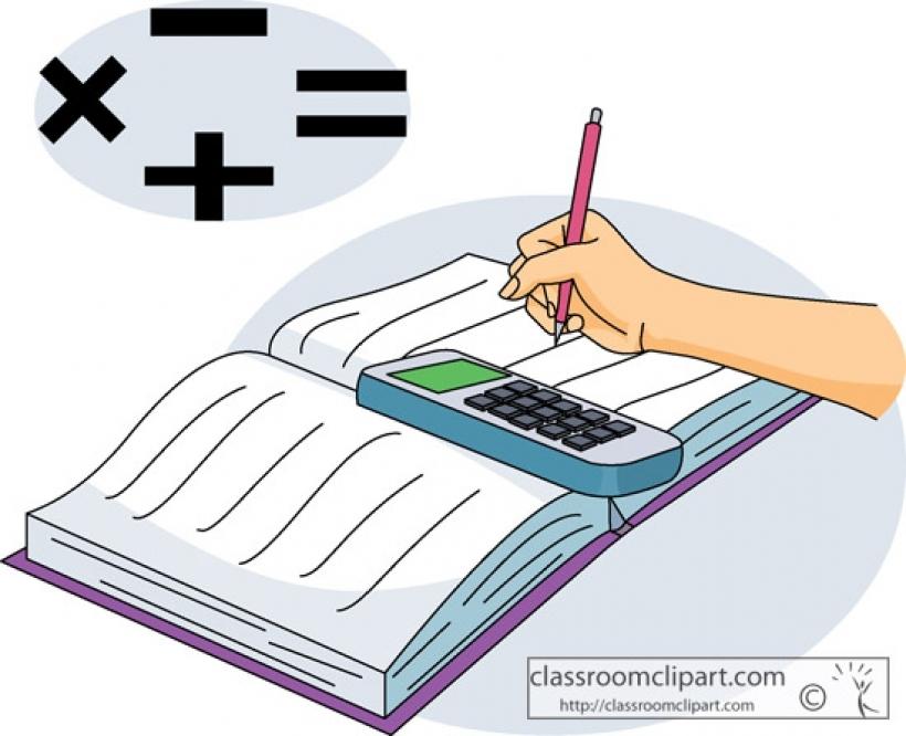 Download math clip art. Textbook clipart mathematics book