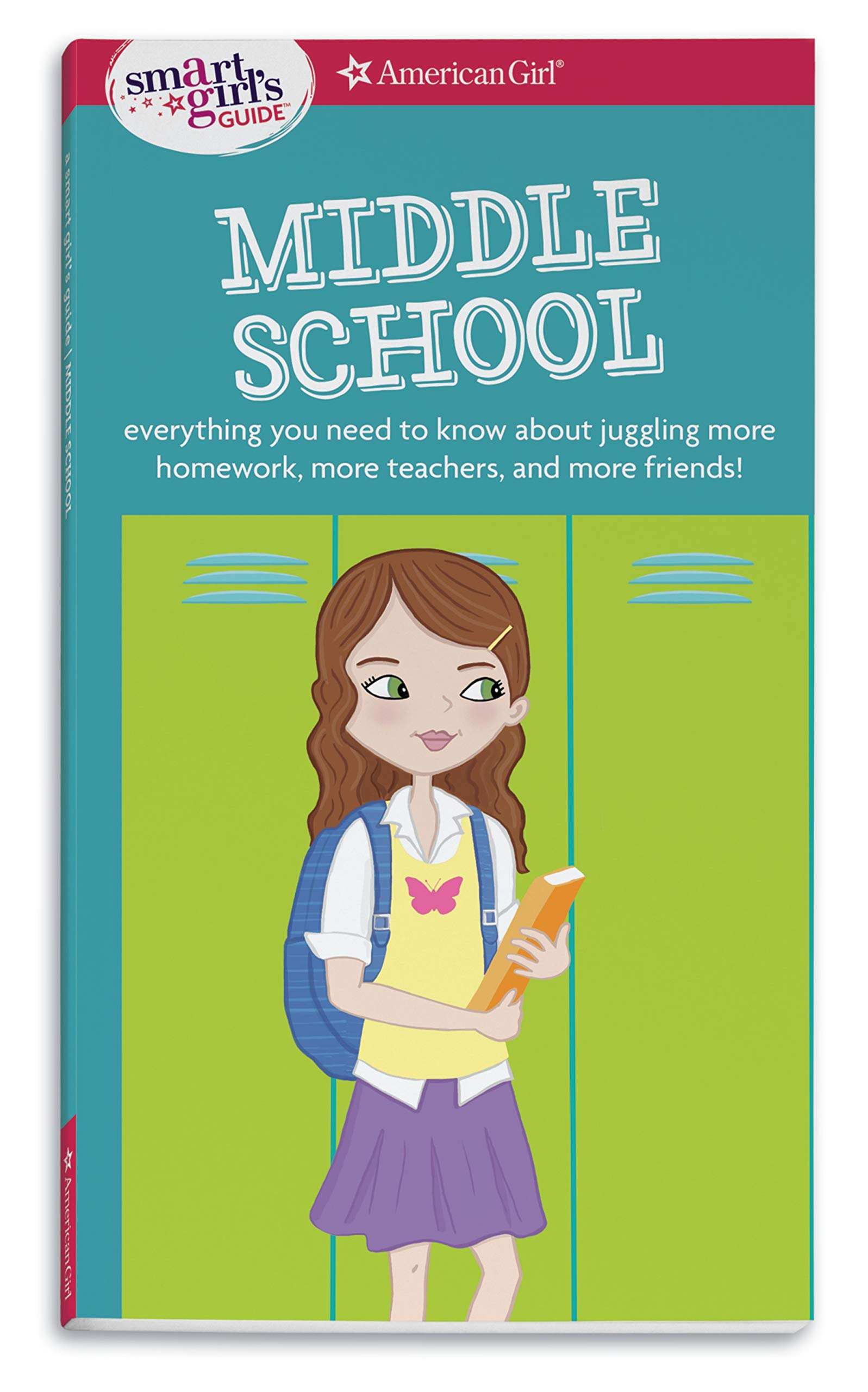 A smart girl s. Textbook clipart middle school