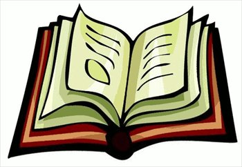 Free picture of an. Textbook clipart open book