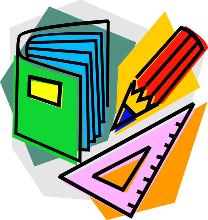Textbook clipart pencil. Mathematics with vector image