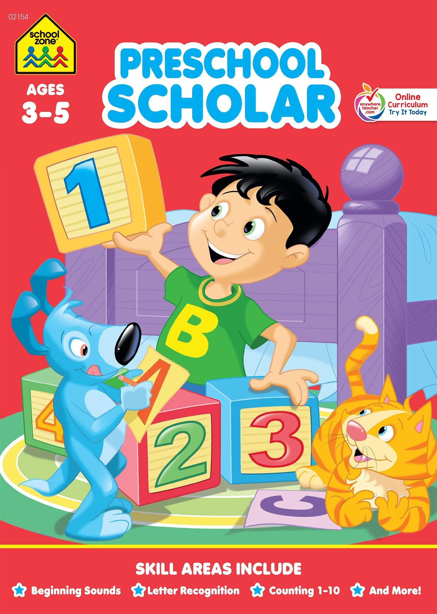 School zone scholar workbook. Textbook clipart preschool book