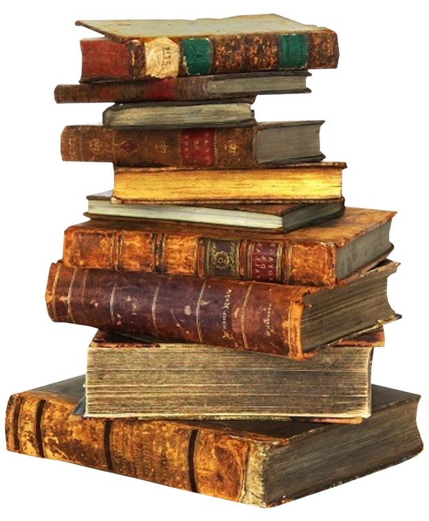 Pile of books group. Textbook clipart scattered book