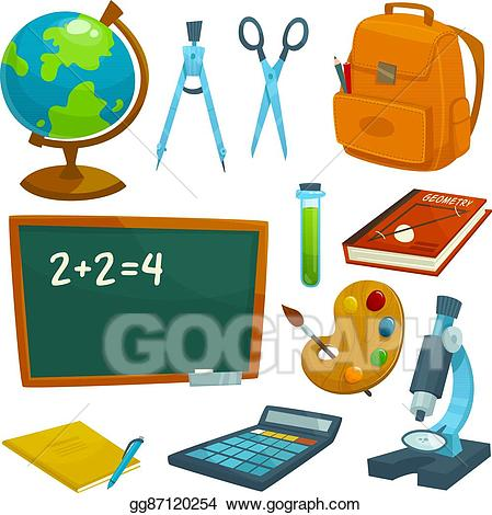 Textbook clipart school lesson. Eps illustration supplies icons