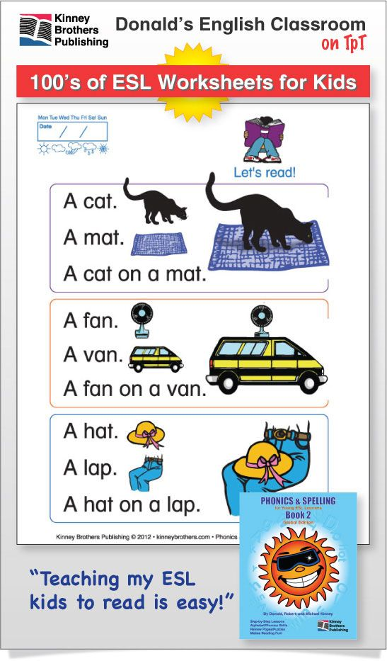 Phonics and esl english. Textbook clipart spelling book