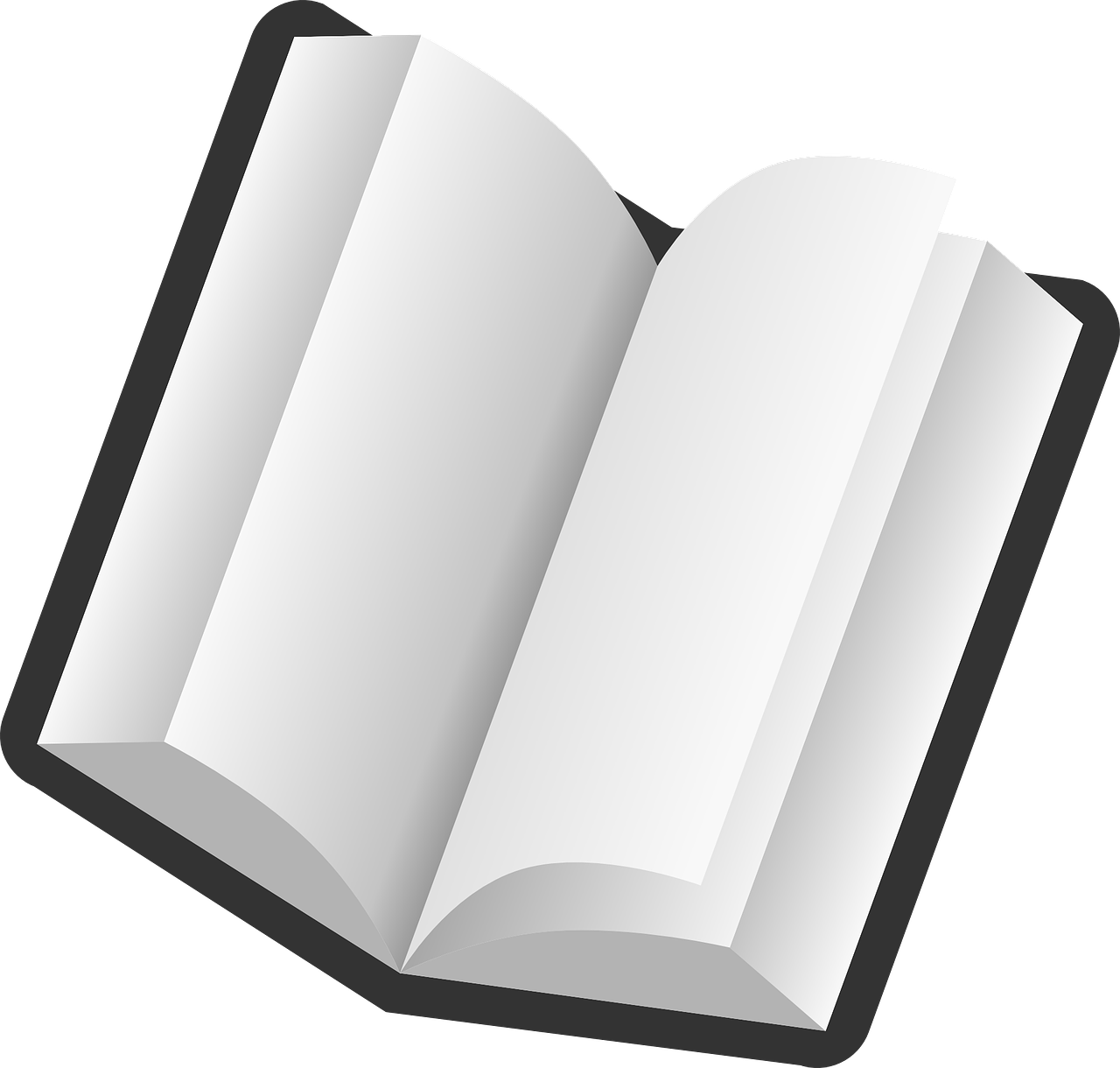 Book open blank pages. Textbook clipart transparent background