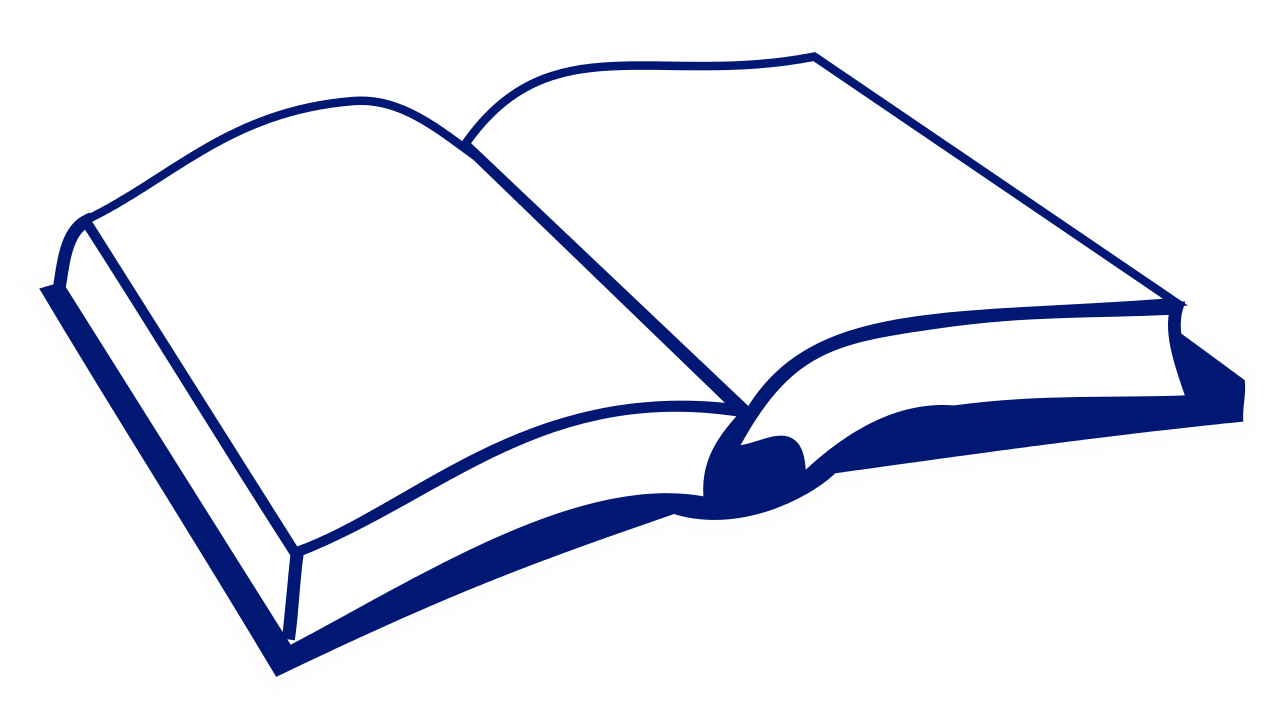 File open book nae. Textbook clipart vector