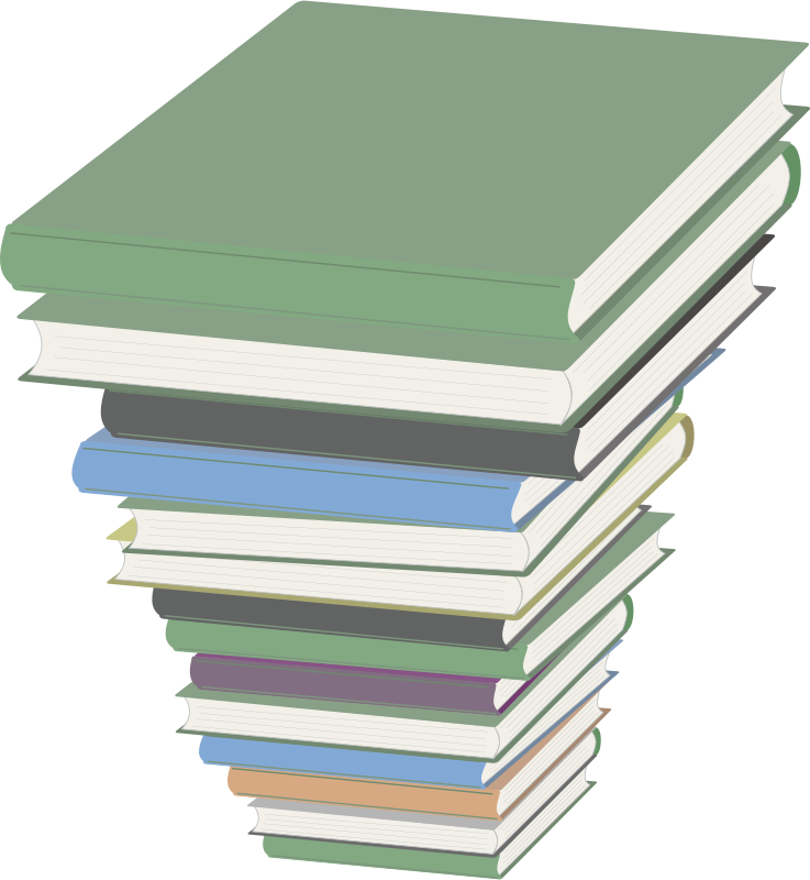 Textbook clipart vector. Free pile of books