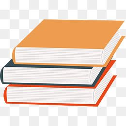 Color textbooks book cover. Textbook clipart vector