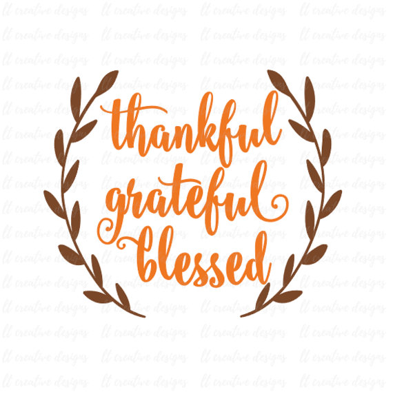 Grateful blessed svg fall. Thankful clipart