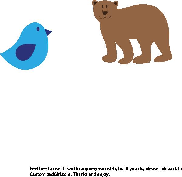 Bear and clip art. Thanks clipart bird